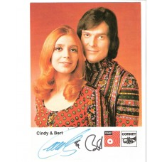 AUTOGRAMMKARTE - Cindy & Bert